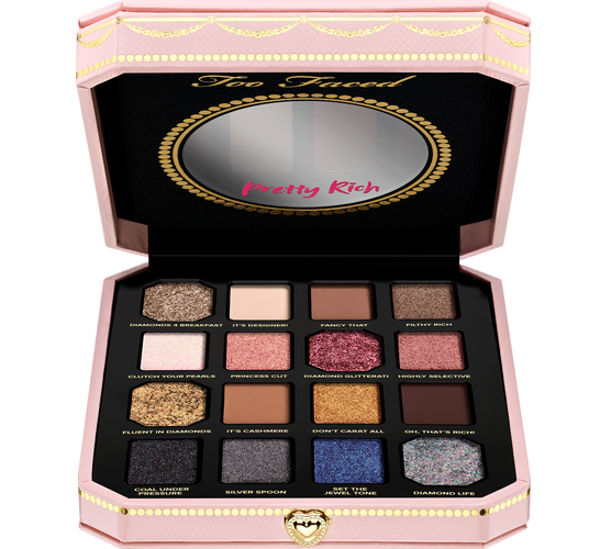 Too Faced pretty rich 钻石高光眼影盘